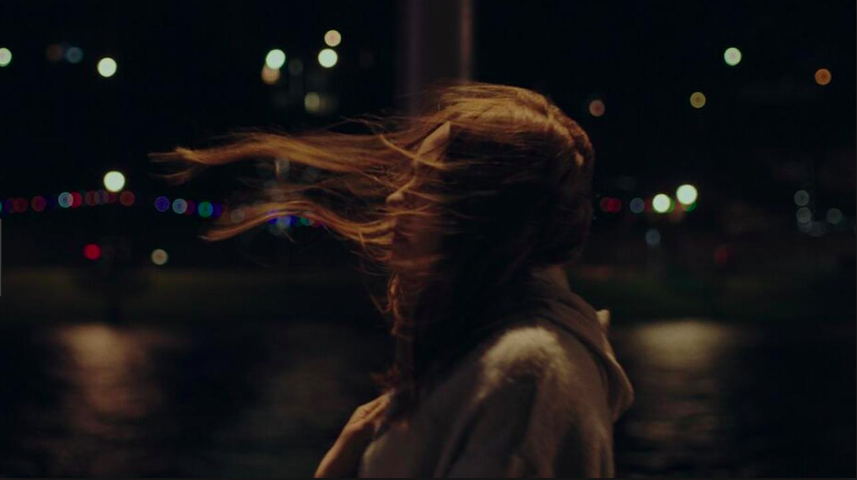 the party's just beginning still, karen gillan, wind blowing hair