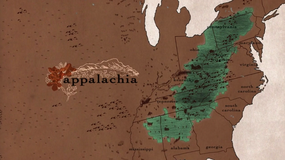Hillbilly Documentary Still - Appalachia Region On Map