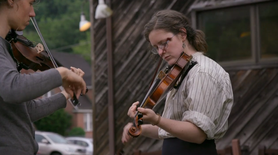 Hillbilly Documentary Still - Appalachians Playing Violin